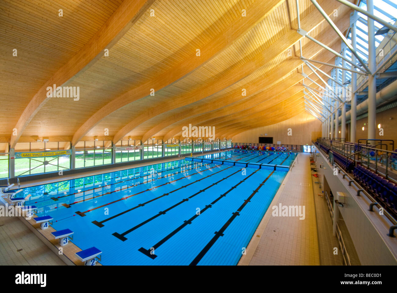 Olympic swimming pool empty stock photos olympic swimming pool empty stock images alamy for Olympic swimming pool pictures