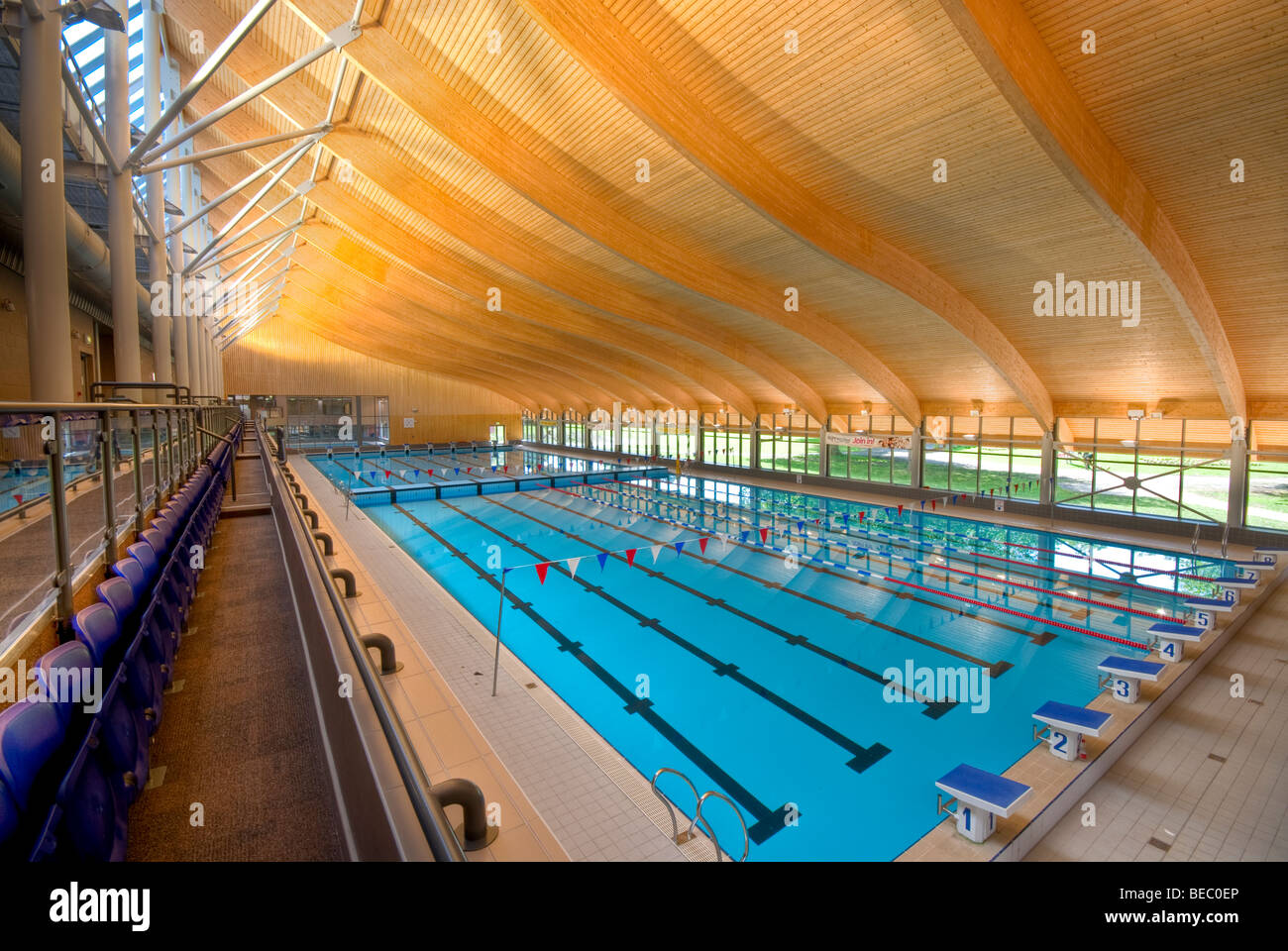 Swimming pool leisure centre indoor stock photos - How many olympic sized swimming pools in uk ...