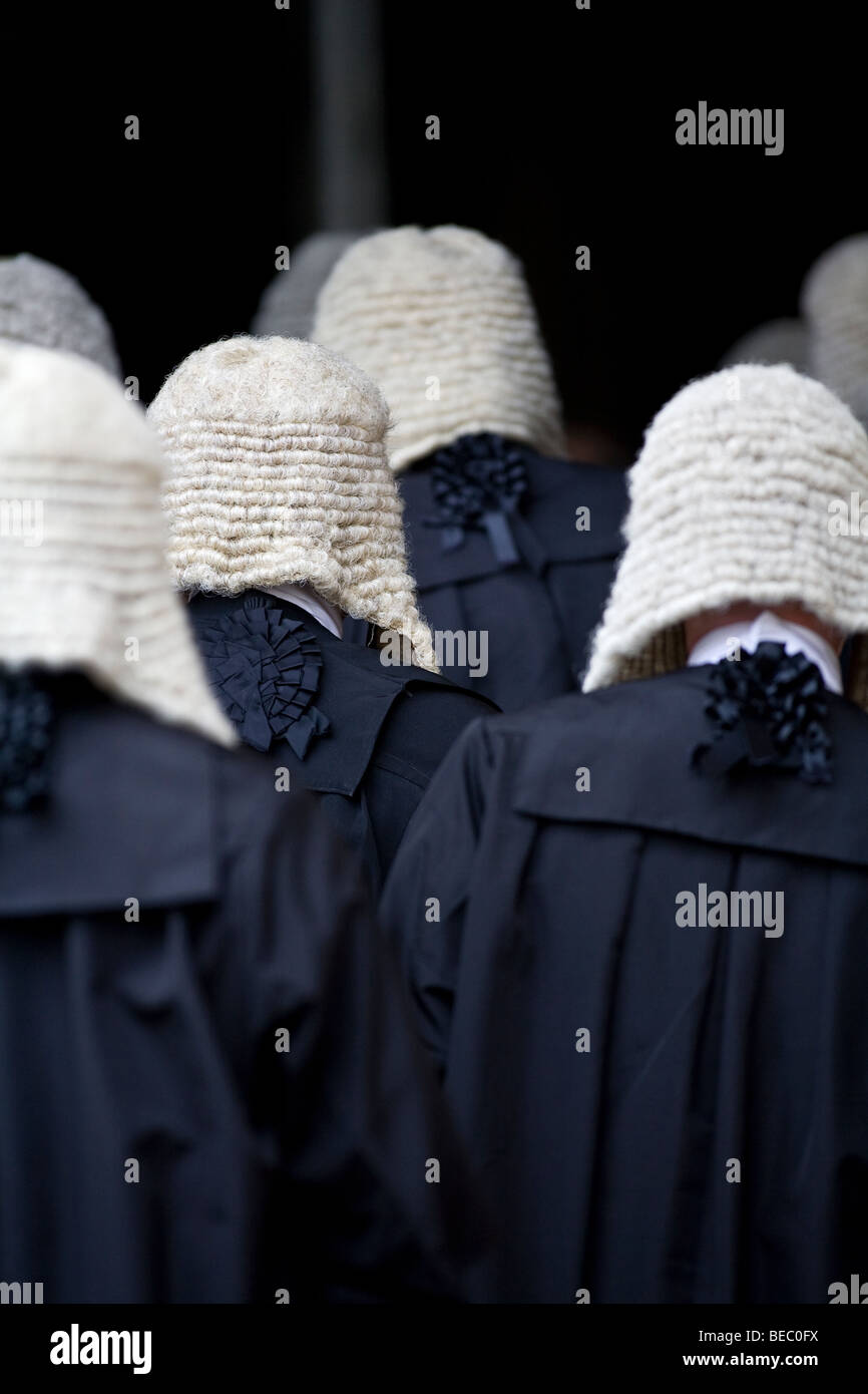Judges Procession service at Westminster Abbey in London - Stock Image