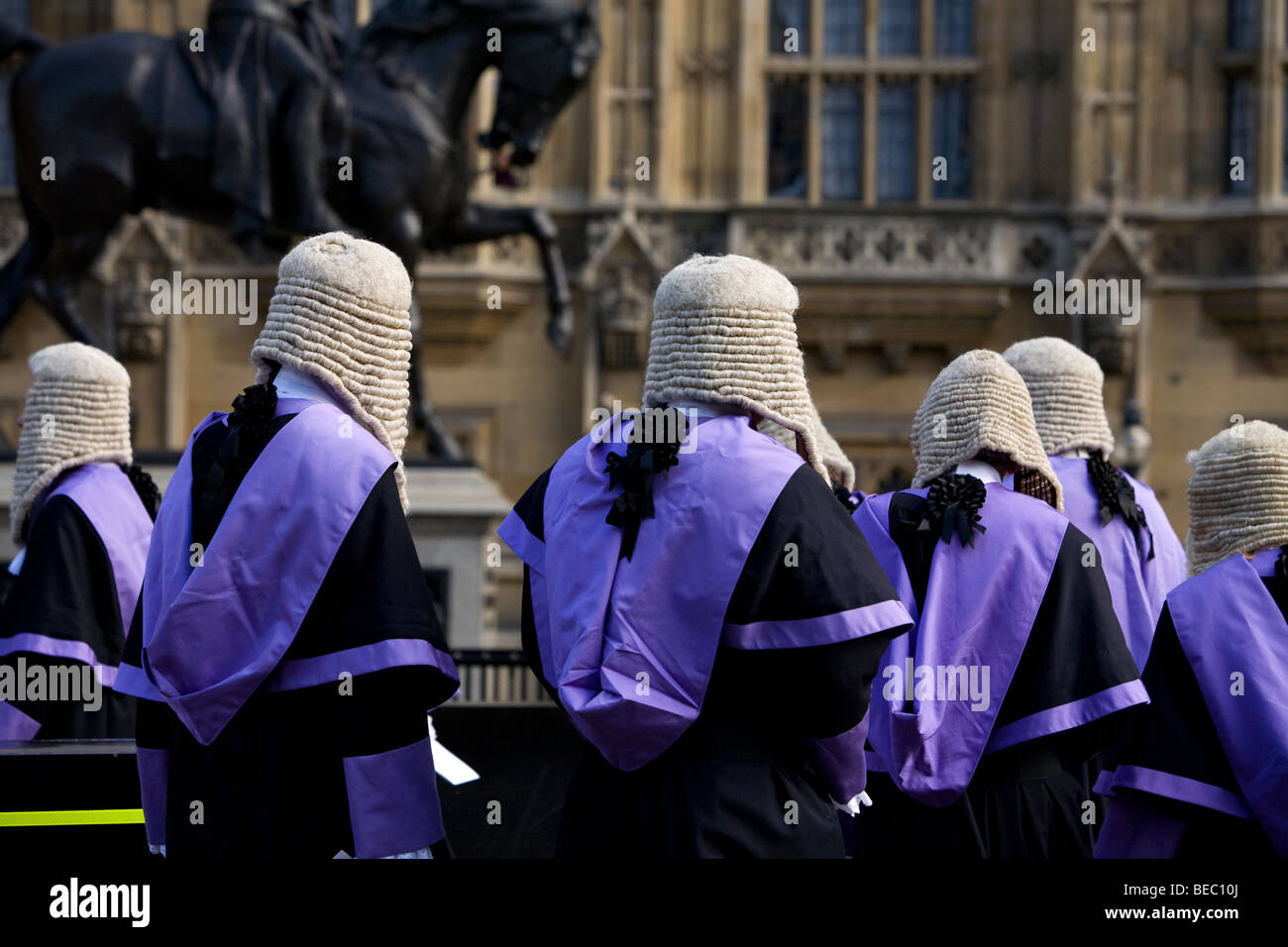 Judges Procession at Houses of Parliament in London - Stock Image