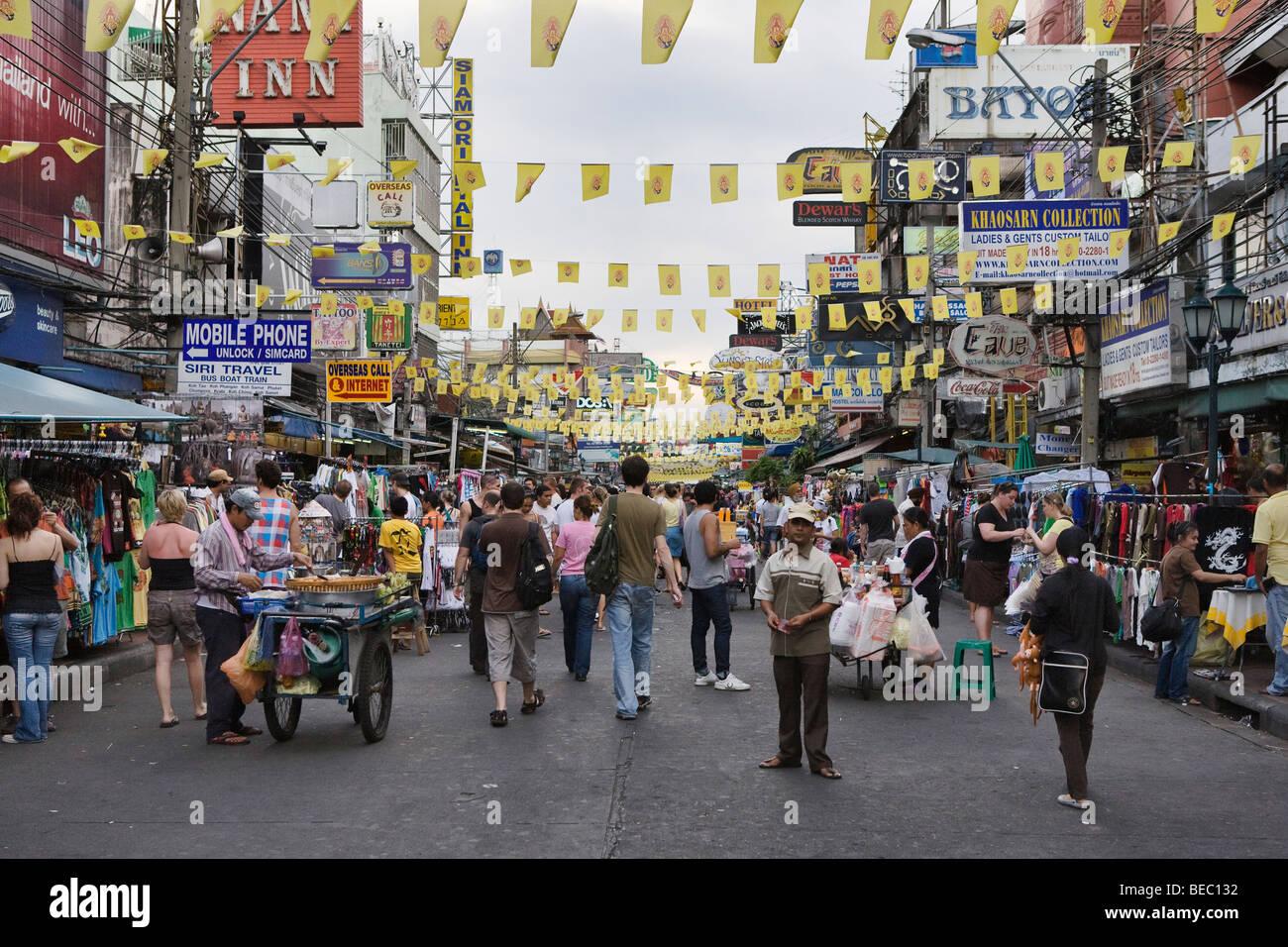 Khao San Road in Bangkok, Thailand Stock Photo