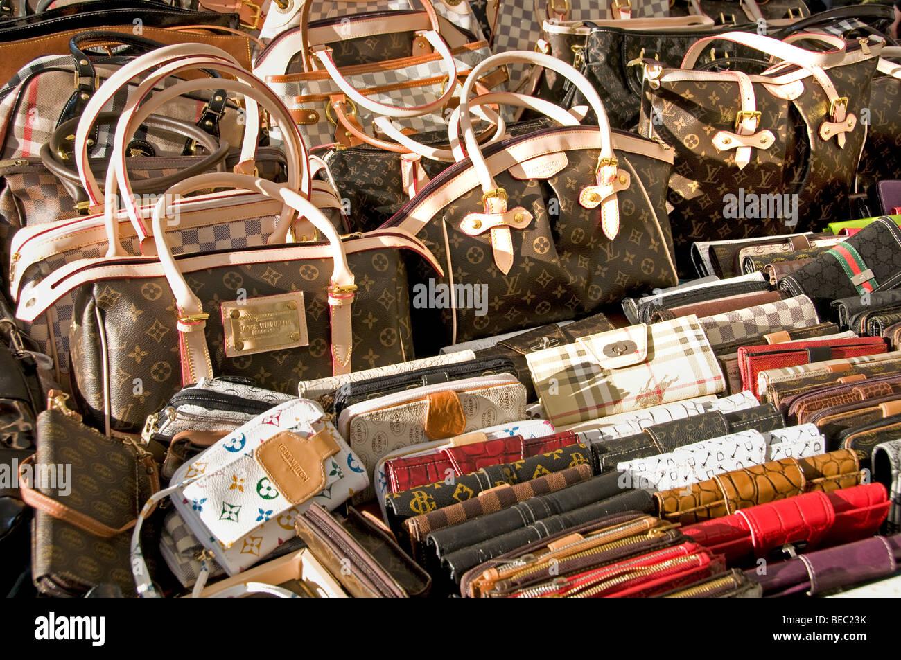Istanbul Turkey imitation bag bags Louis Vuitton - Stock Image