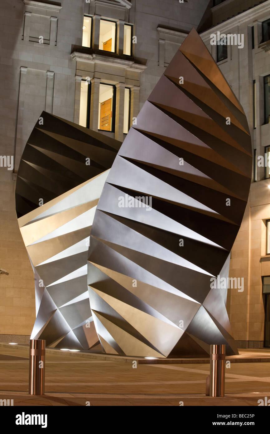 sculptural cooling vents, Bishop's Court, London, England, UK - Stock Image