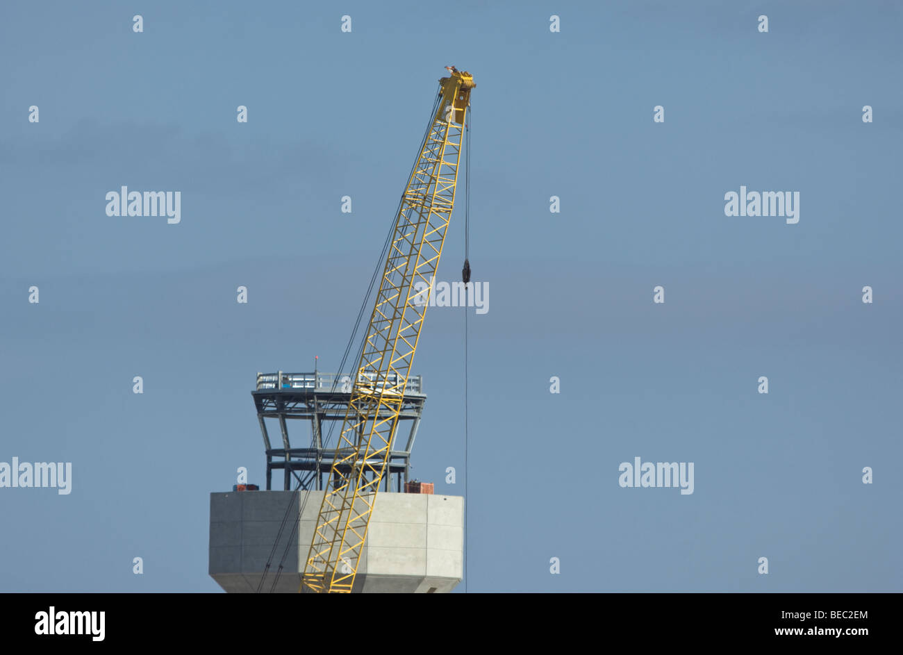 Air Traffic Control Tower under construction - Stock Image