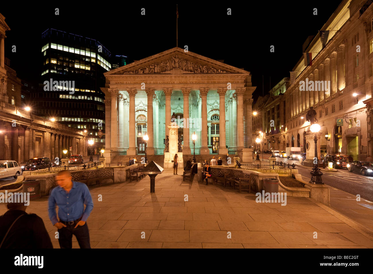 The Royal Exchange,  Cornhill and Threadneedle Street, London, England, UK - Stock Image
