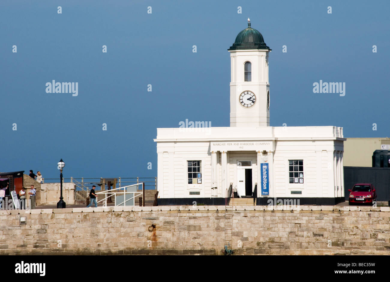 Droit House on Margate jetty, Margate, Kent, England - Stock Image