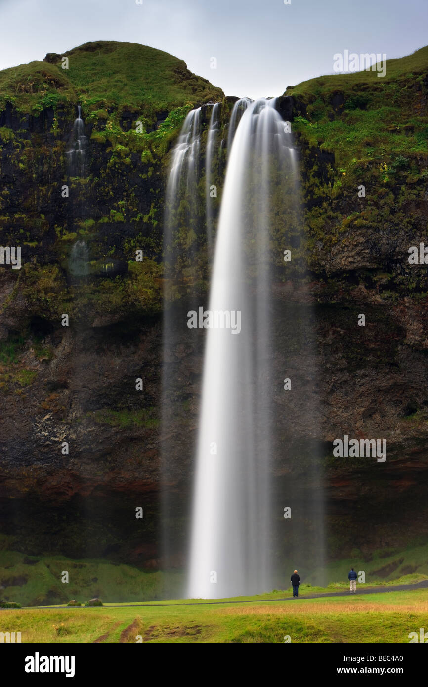 Waterfall Seljalandsfoss - Stock Image
