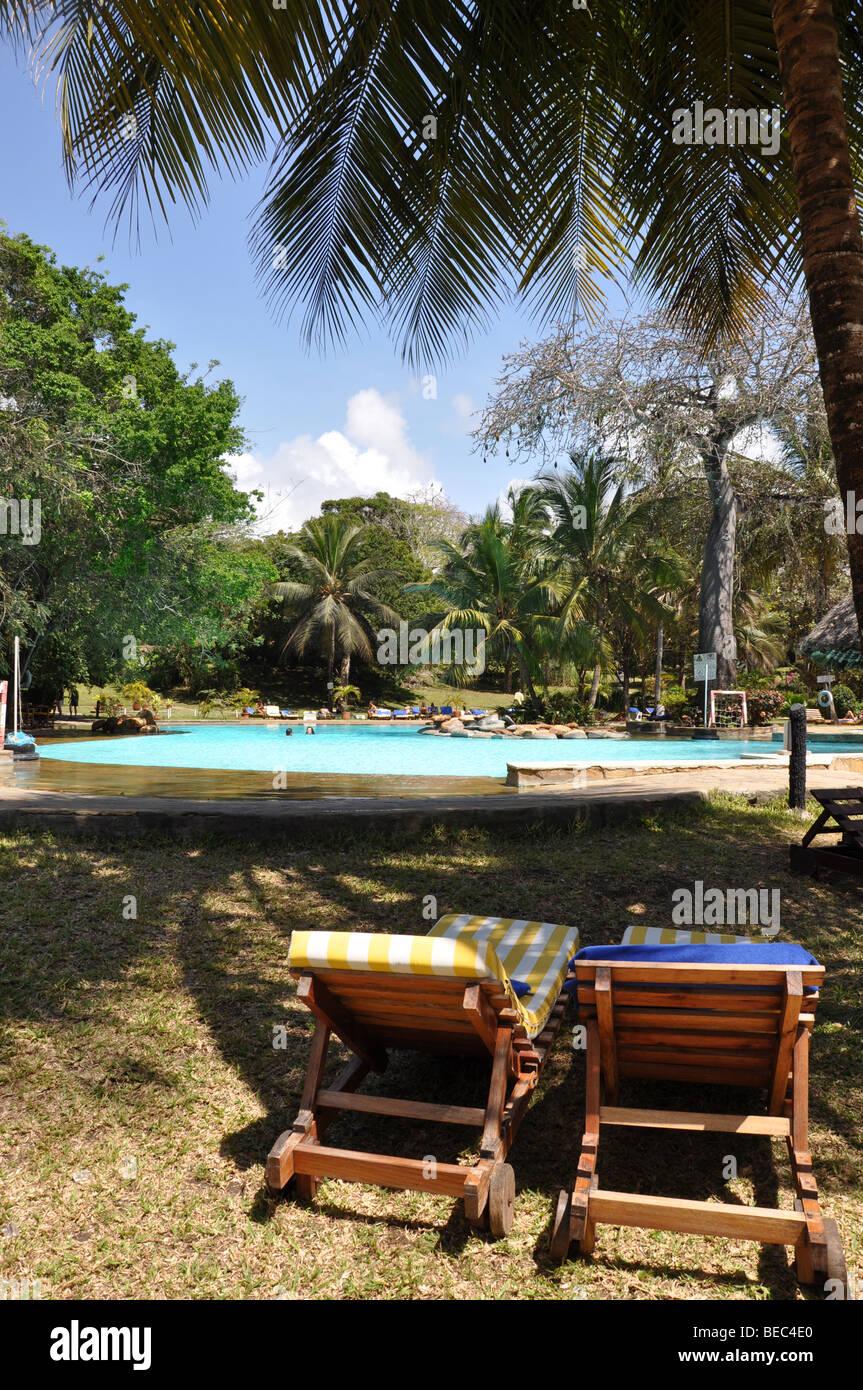 Papillon Lagoon reef hotel Diani Beach Kenya - Stock Image