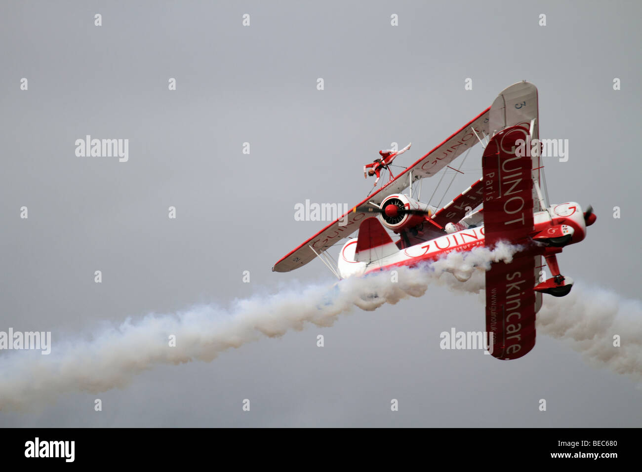 Guinot Wing Walkers at Southport Airshow - Stock Image
