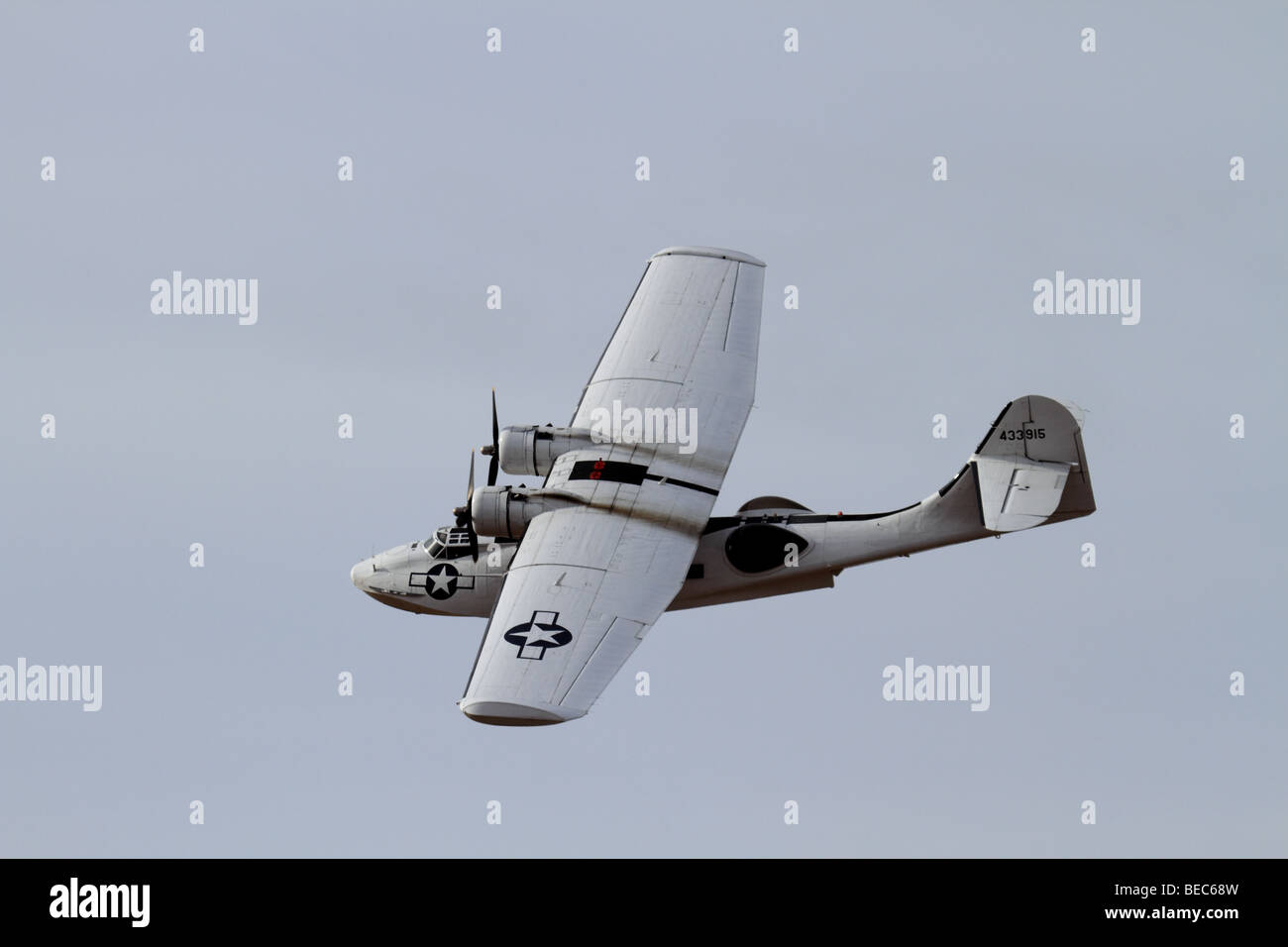 Catalina Flying Boat displays at Southport Airshow 2009 - Stock Image