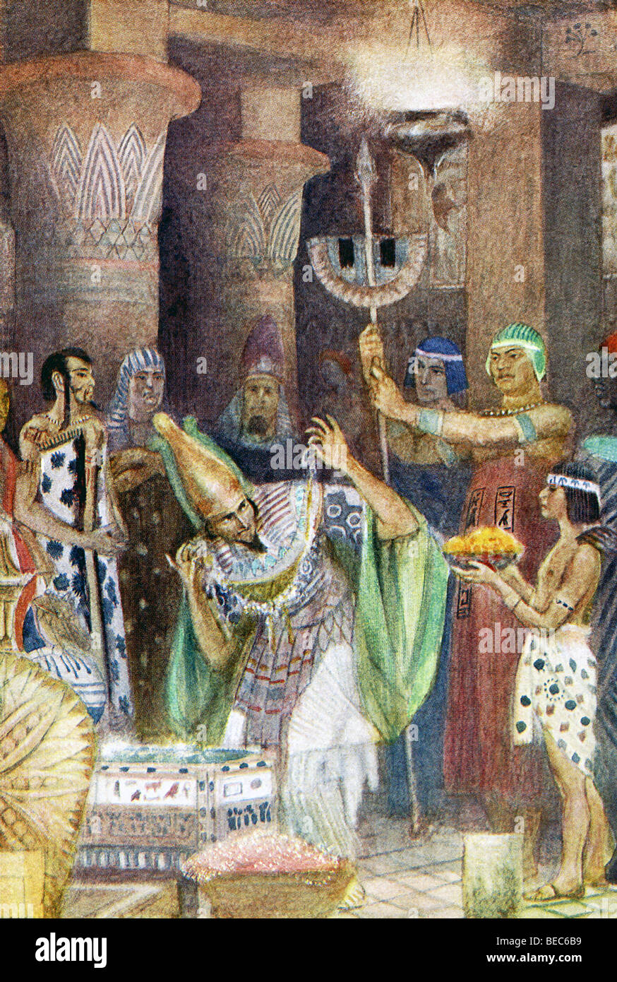 Greek legend said King  Rhampsinites of Egypt so loved wealth and riches that he built a vault to house his treasures. - Stock Image