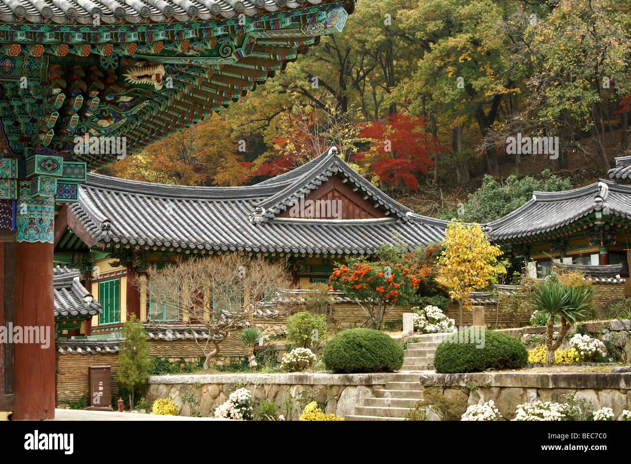 Seonamsa Buddhist temple, Suncheon, South Korea Stock Photo ...