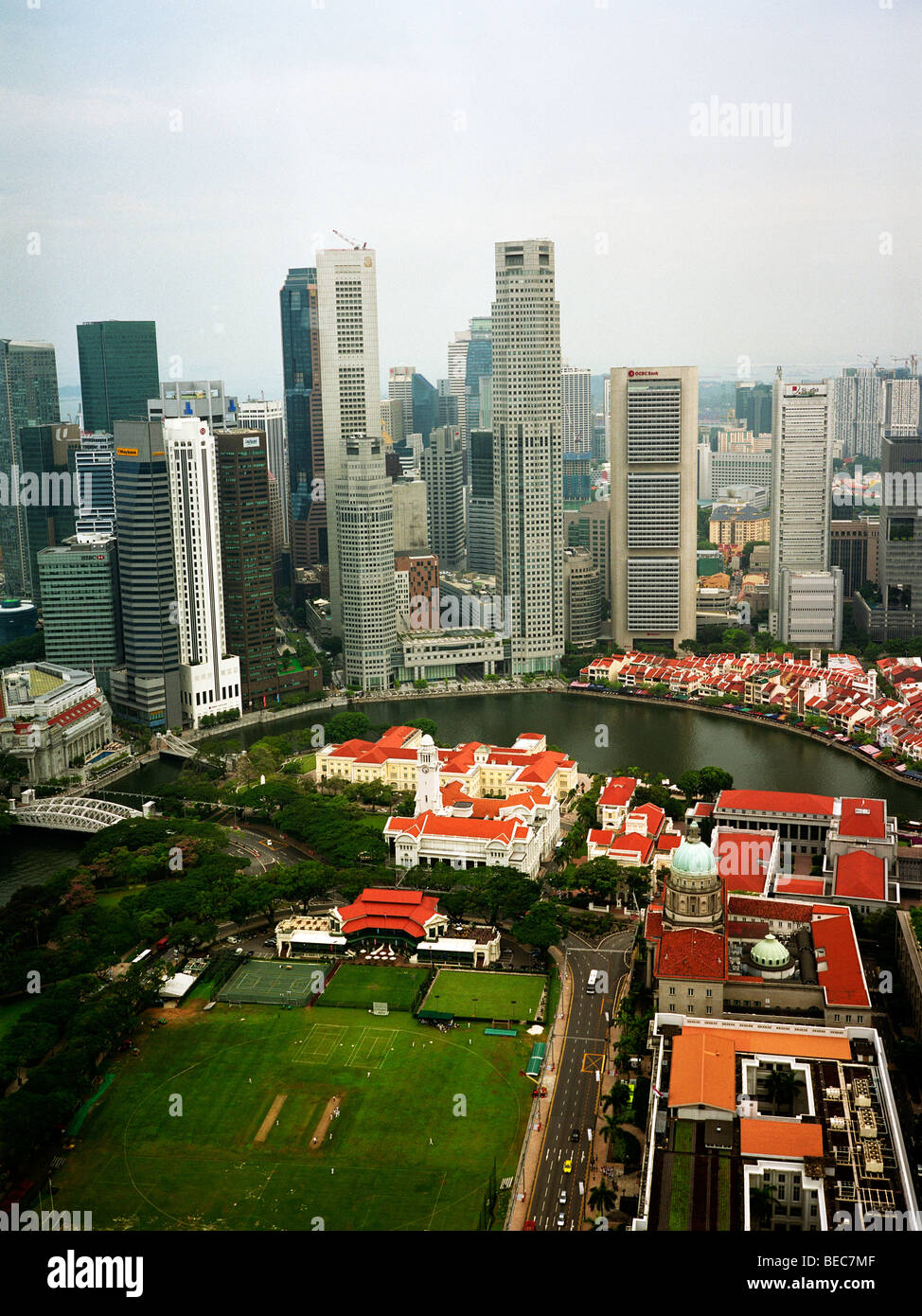 Singapore: Clark Quay and Financial District - Stock Image