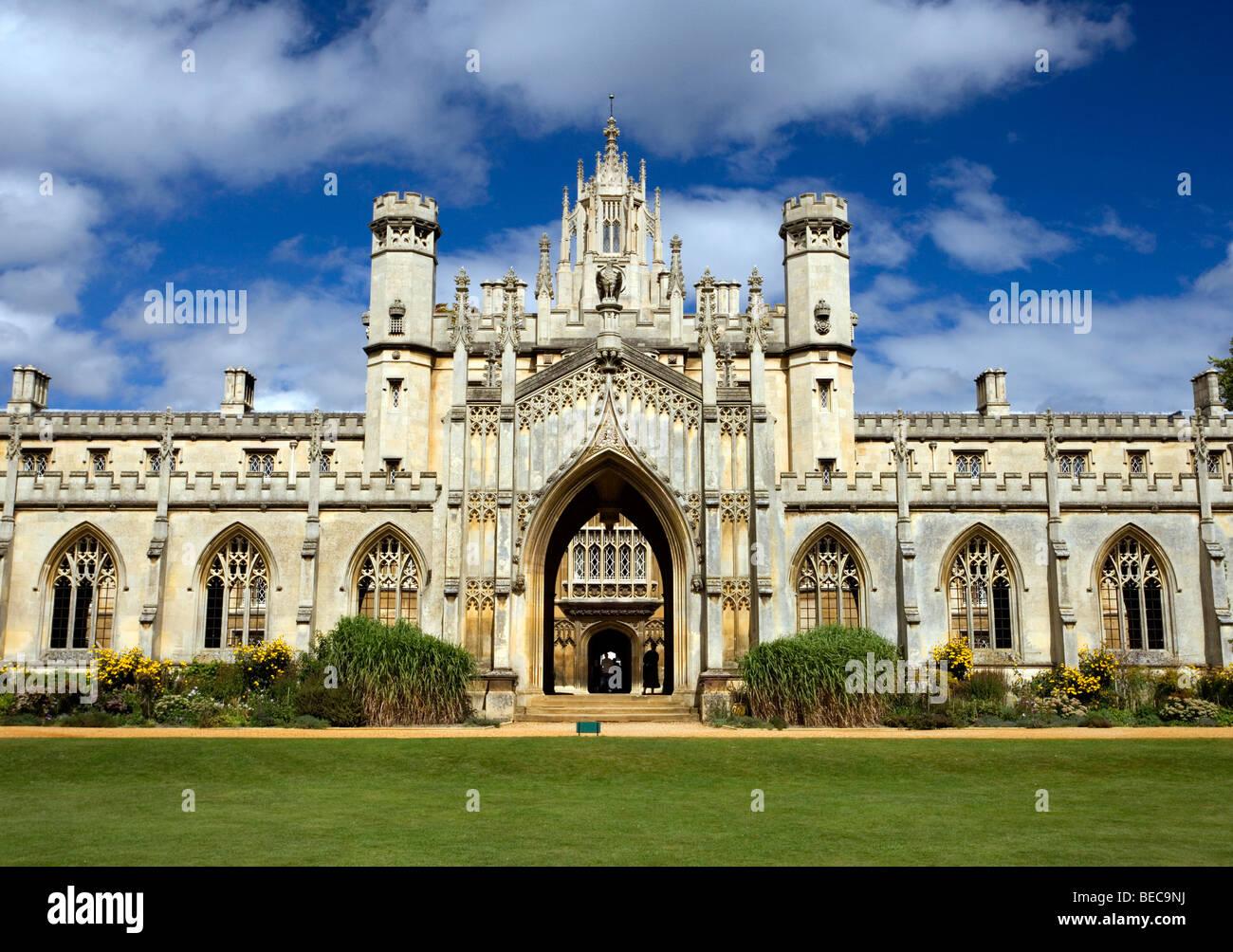 St. John's College in Cambridge, Cambridgeshire, UK. - Stock Image