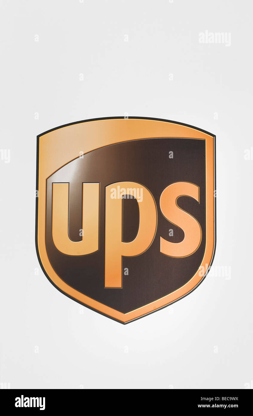 UPS logo, United Parcel Service of America - Stock Image