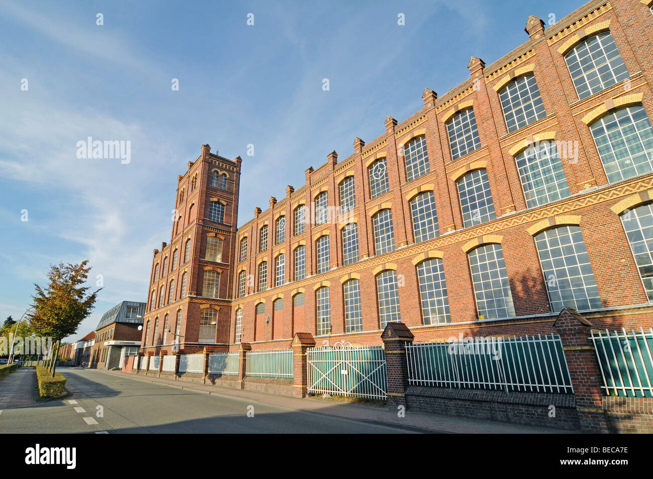 Huesker Synthetic, textile company, industry, historic factory building, Gescher, Borken District, Muensterland, - Stock Image