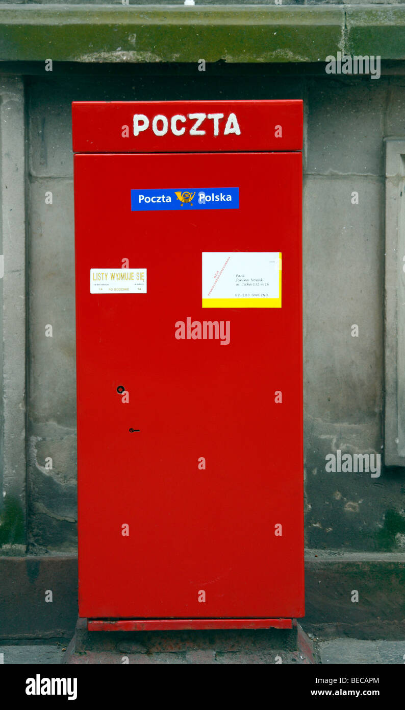 Letterbox, Gdansk, Poland, Europe Stock Photo