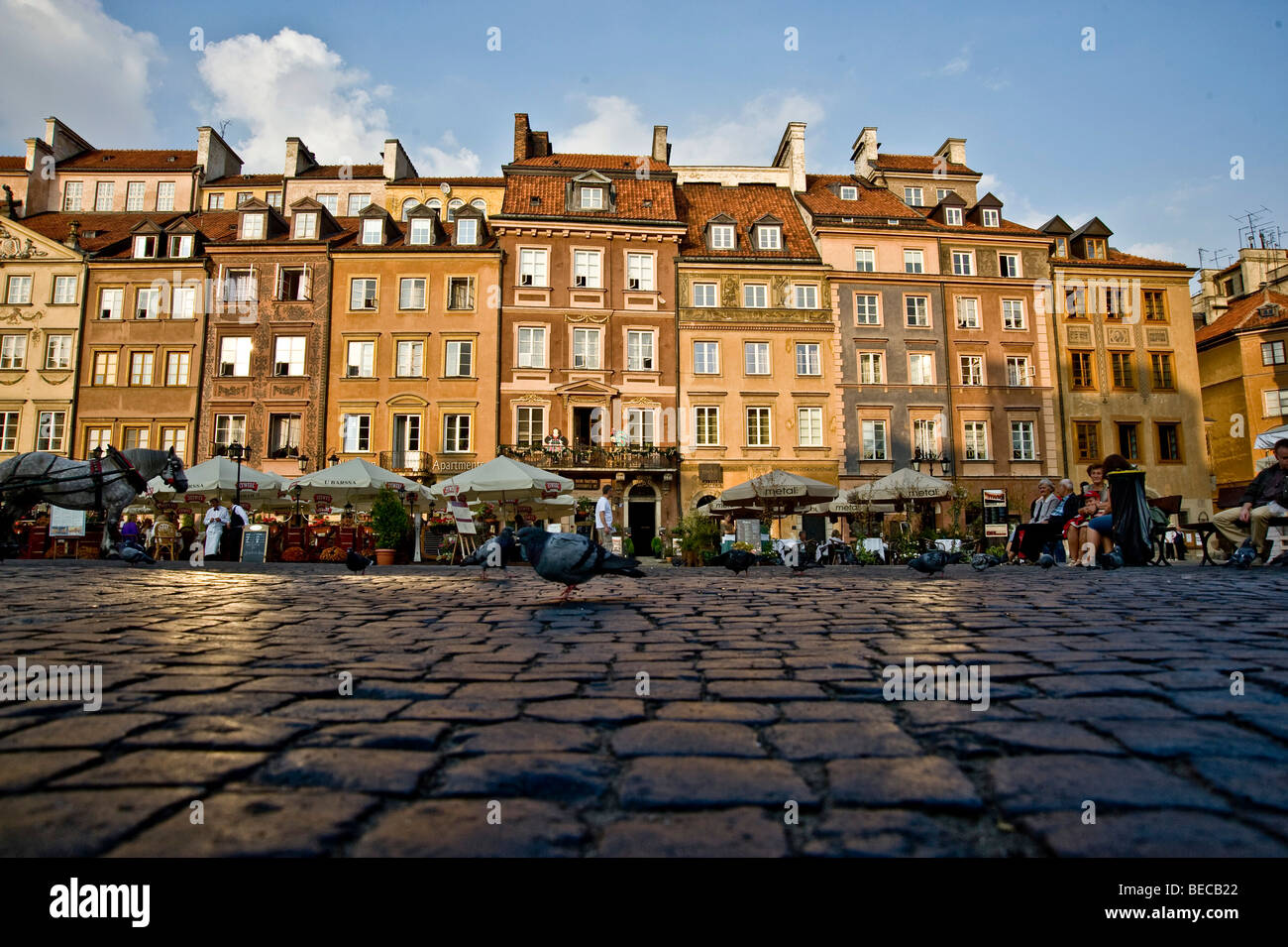 Market square in the historic centre of Warsaw, Poland, Europe - Stock Image