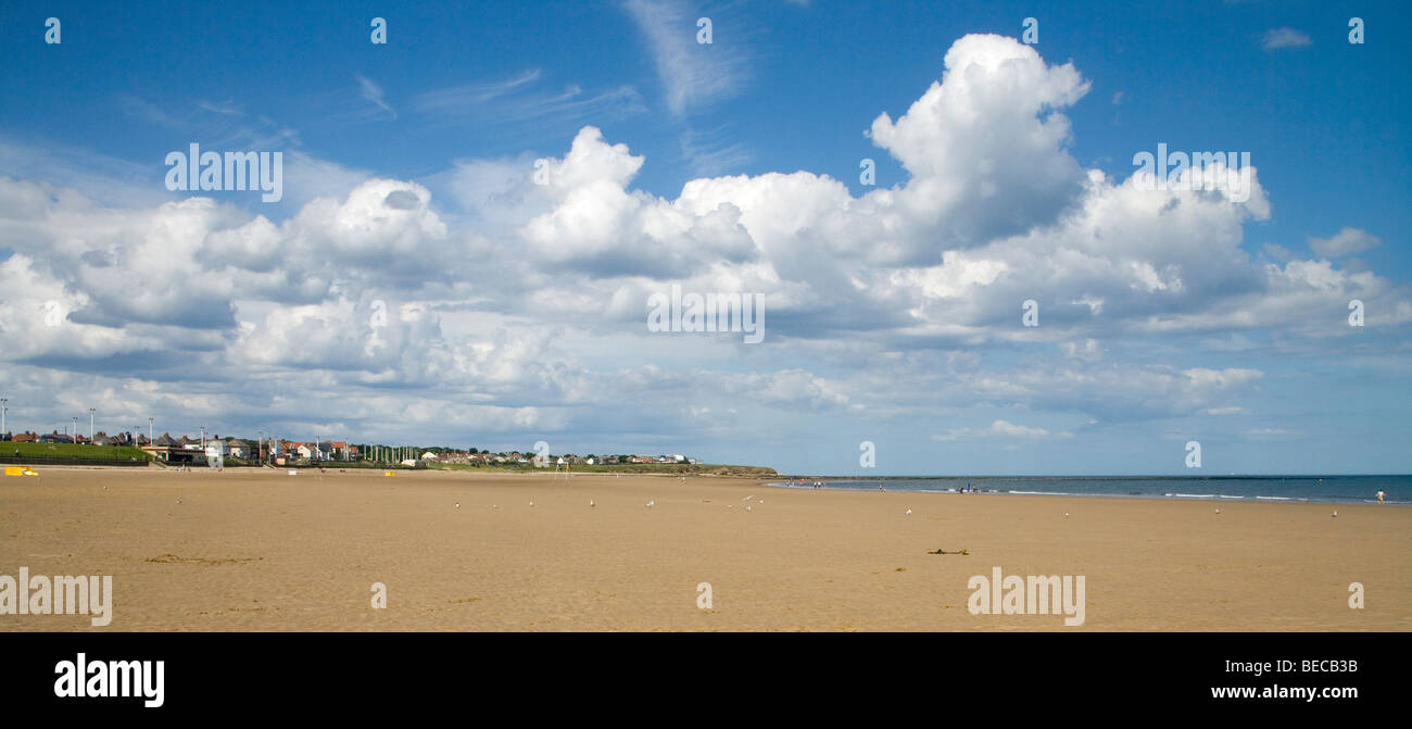 clouds over Whitburn  Sunderland Tyne and Wear - Stock Image