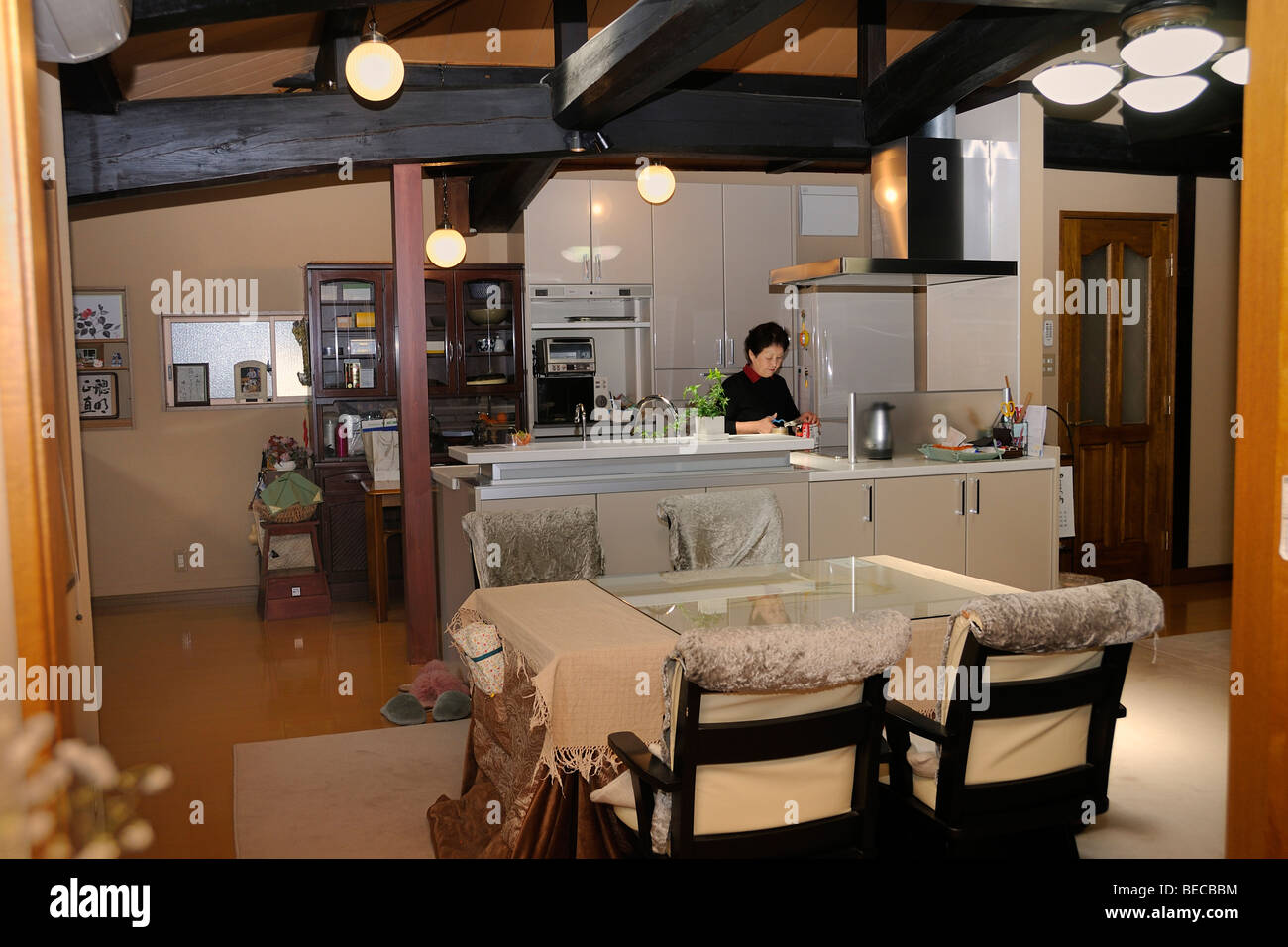 Traditional, refurbished house in Kyoto, Japan, East Asia, Asia - Stock Image