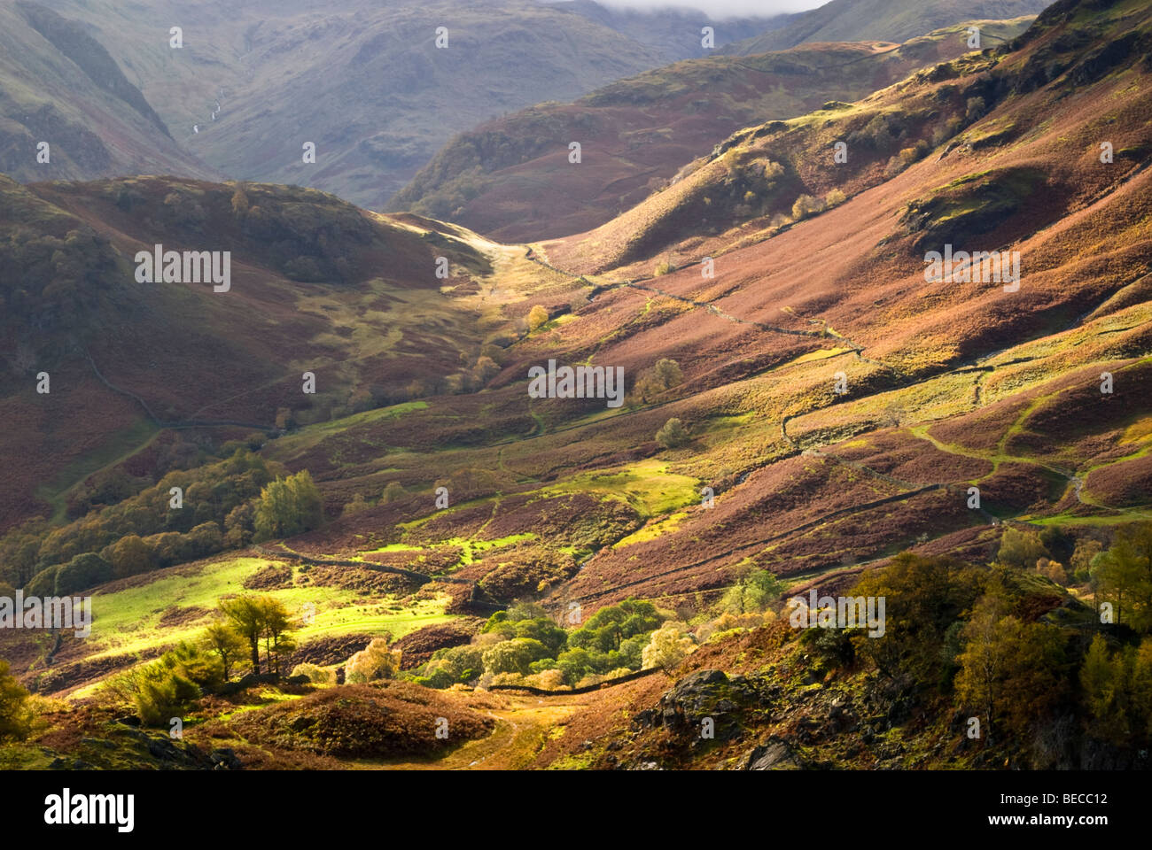 Allerdale Ramble From Castle Cragg - Stock Image
