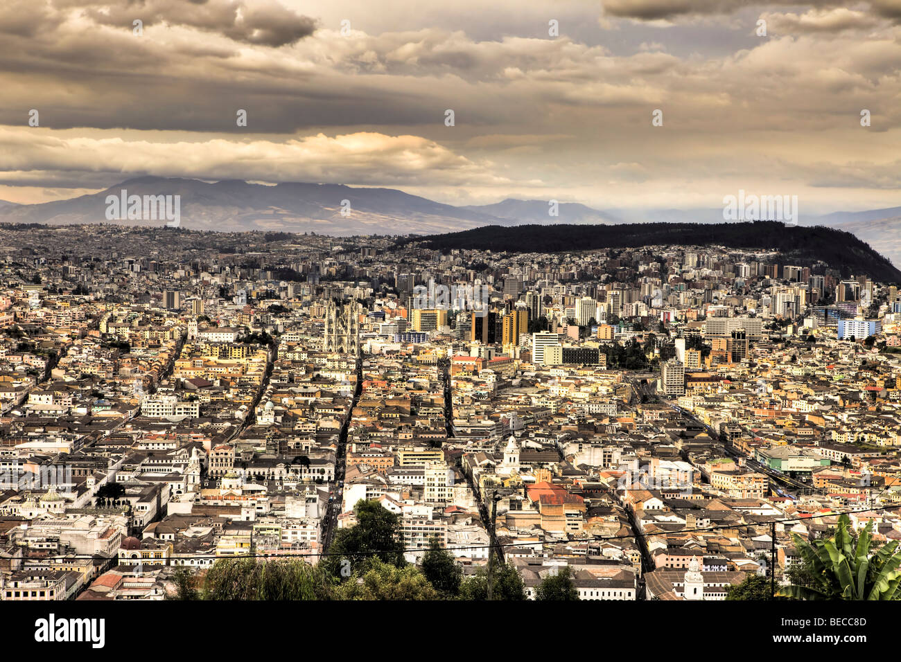 Quito at Dusk, Ecuador - Stock Image
