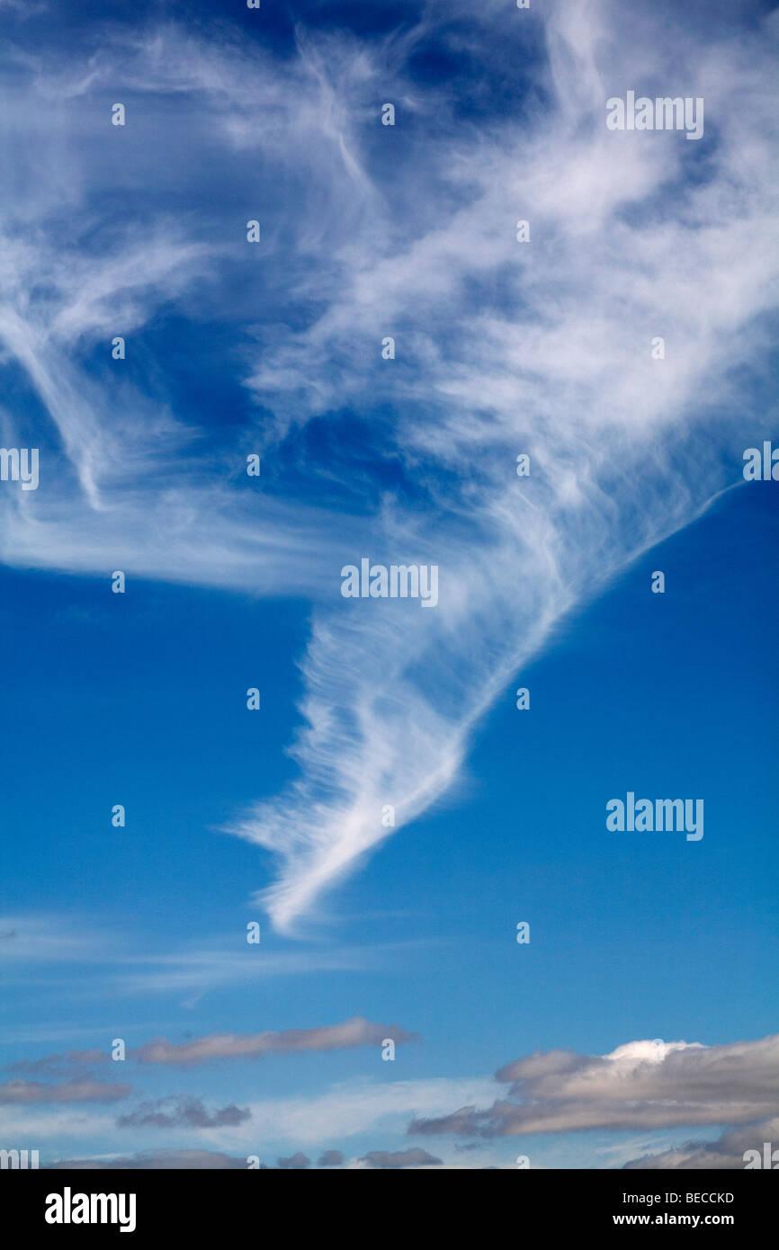 Cirrus clouds - Stock Image