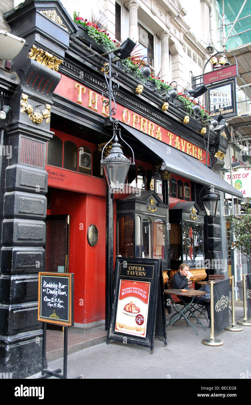 The Opera Tavern, Drury Lane, Covent Garden, City of Westminster, London, England, United Kingdom - Stock Image