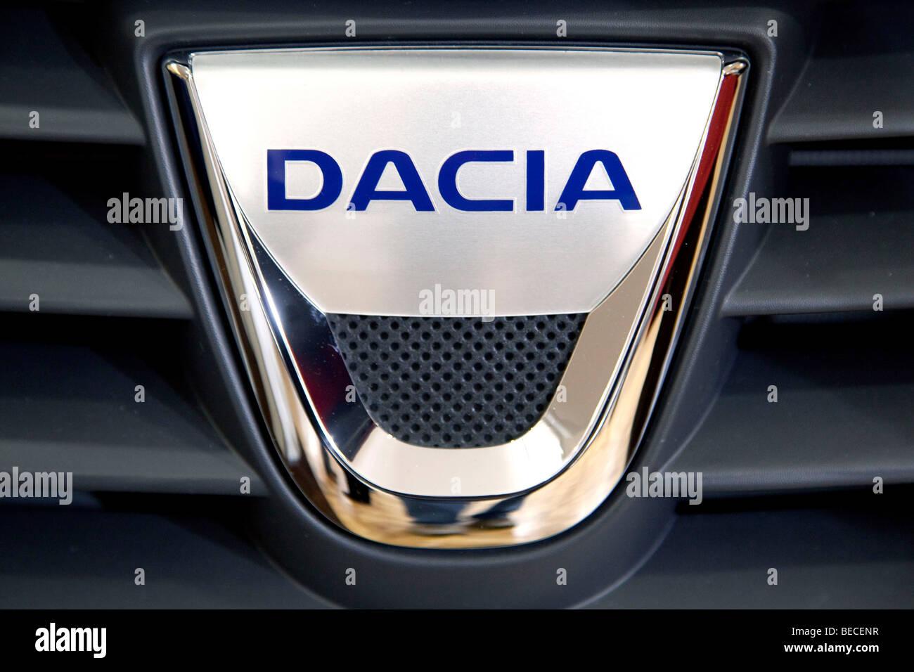 Dacia emblem on a car Stock Photo