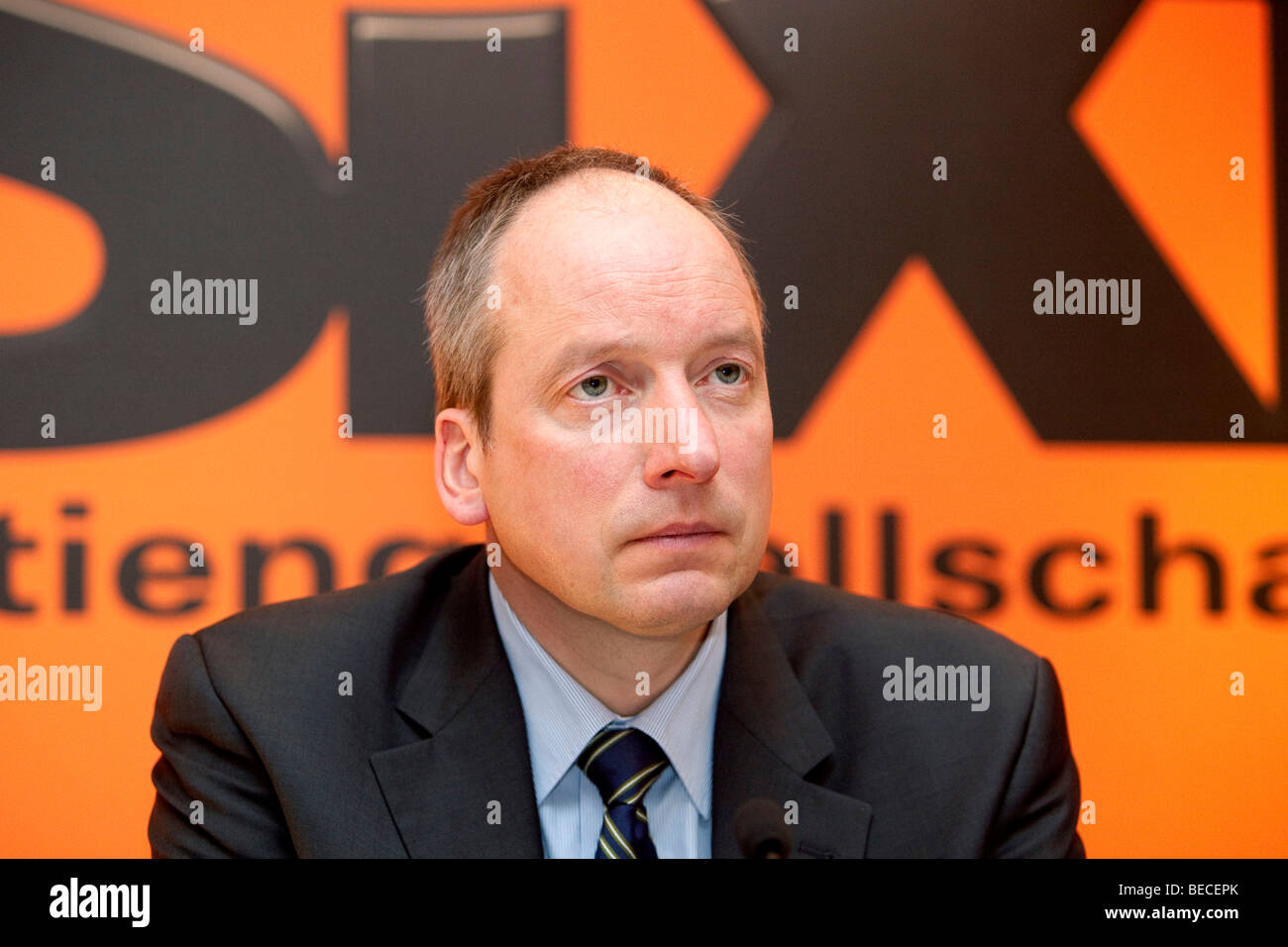 Karsten Odemann, chief financial officer of the Sixt AG, during the press conference on financial statements, 19.03.2009 - Stock Image