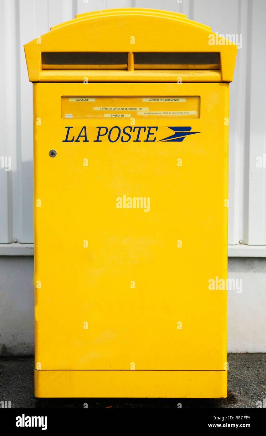 French mail box, post box Stock Photo
