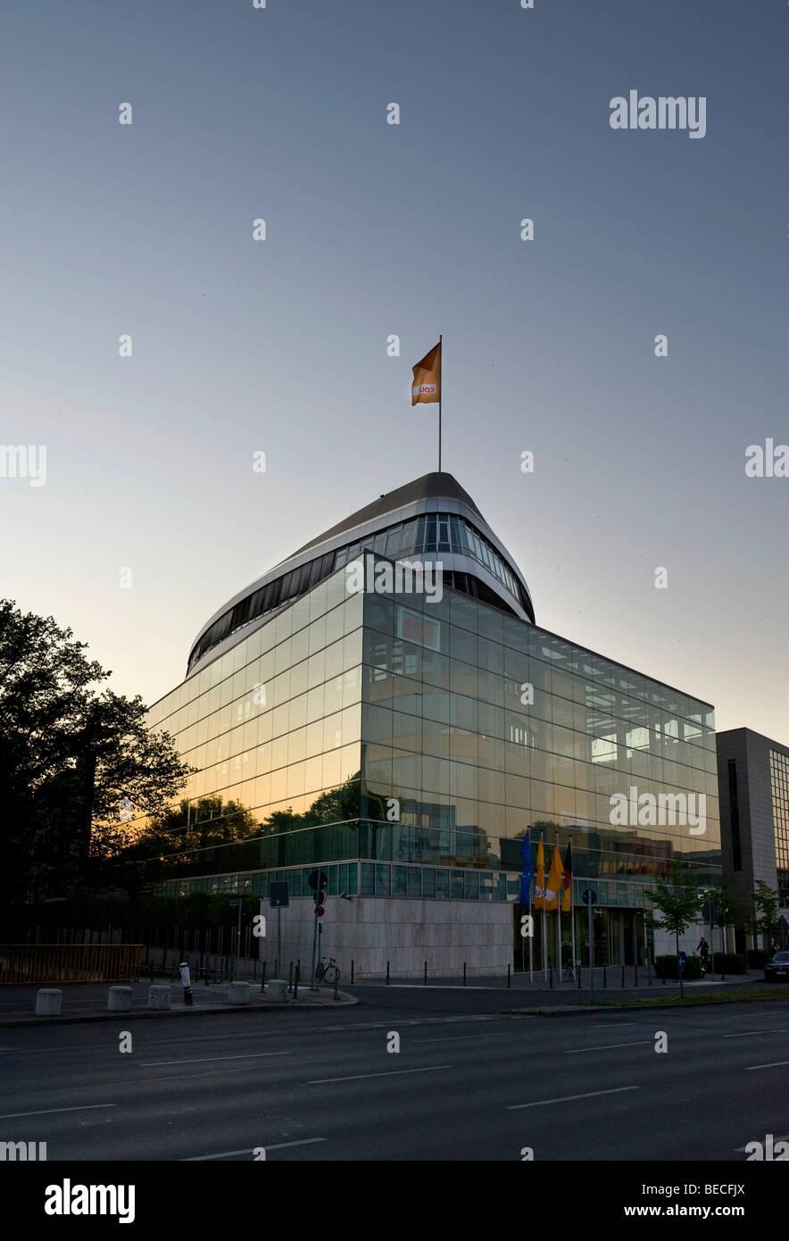 CDU headquarters, Federal office of the CDU in Konrad-Adenauer-Haus in Klingelhoeferstrasse street in Berlin Tiergarten, - Stock Image