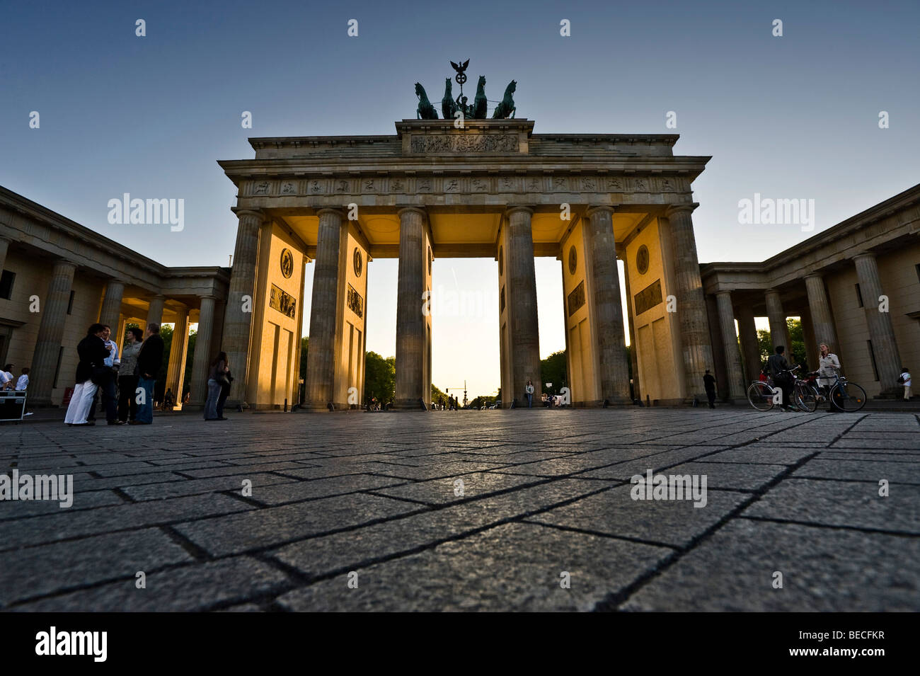 Brandenburg Gate, Berlin, Germany, Europe Stock Photo
