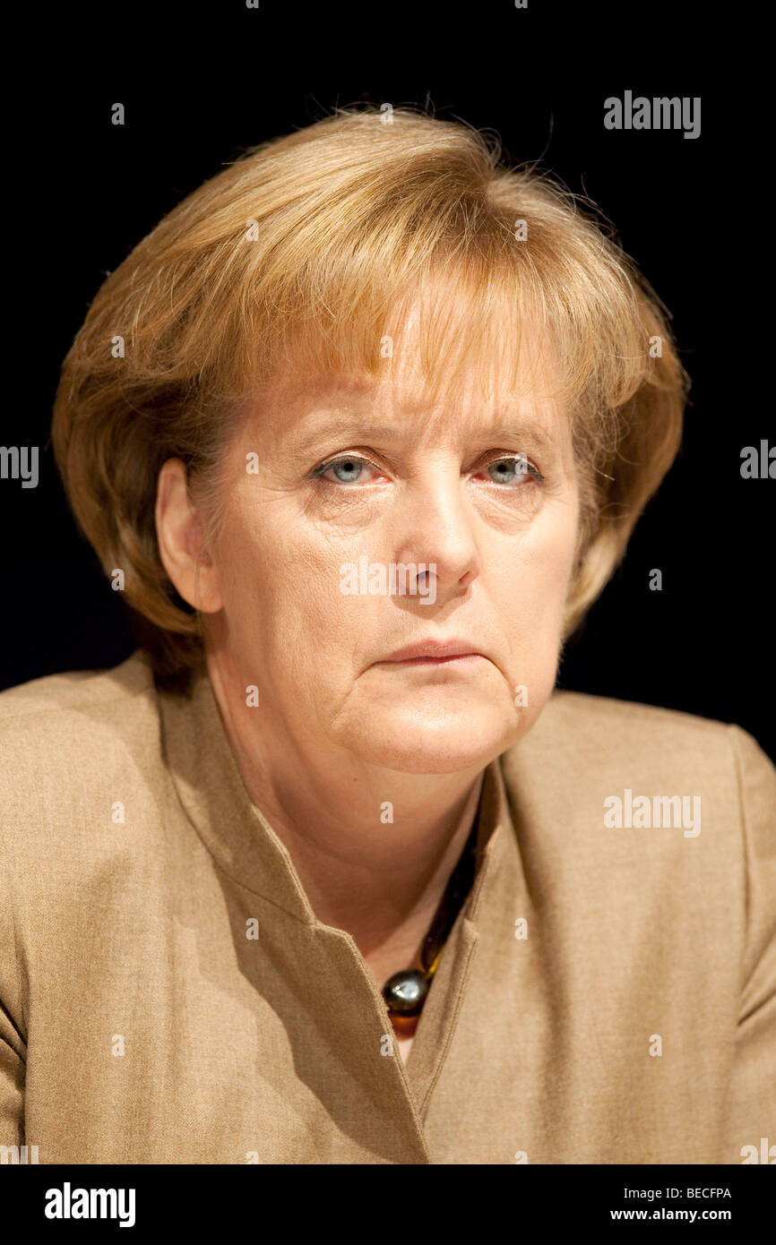 Angela Merkel, Chancellor of Germany and chairwoman of the Christian Democratic Union, CDU - Stock Image