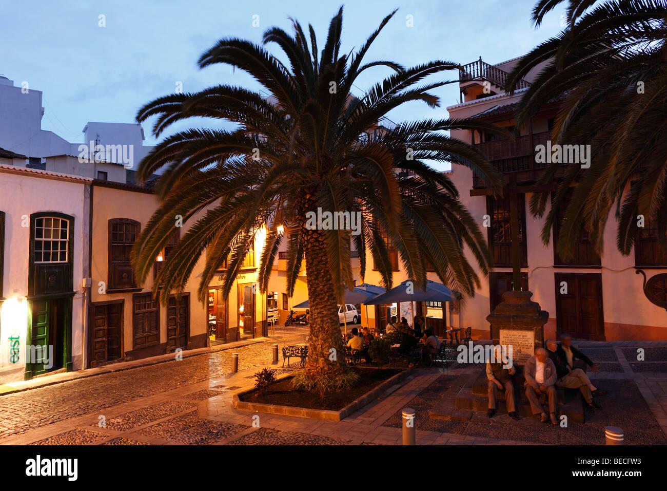 Cruz de Tercero at Plaza Alameda, Santa Cruz de la Palma, La Palma, Canary Islands, Spain - Stock Image