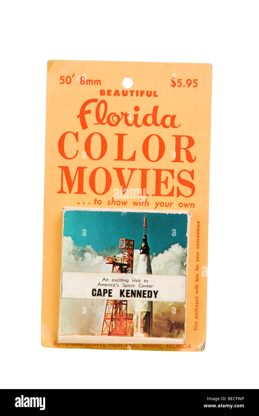 souvenir 1960s U.S. Florida State 8mm movie - Stock Image
