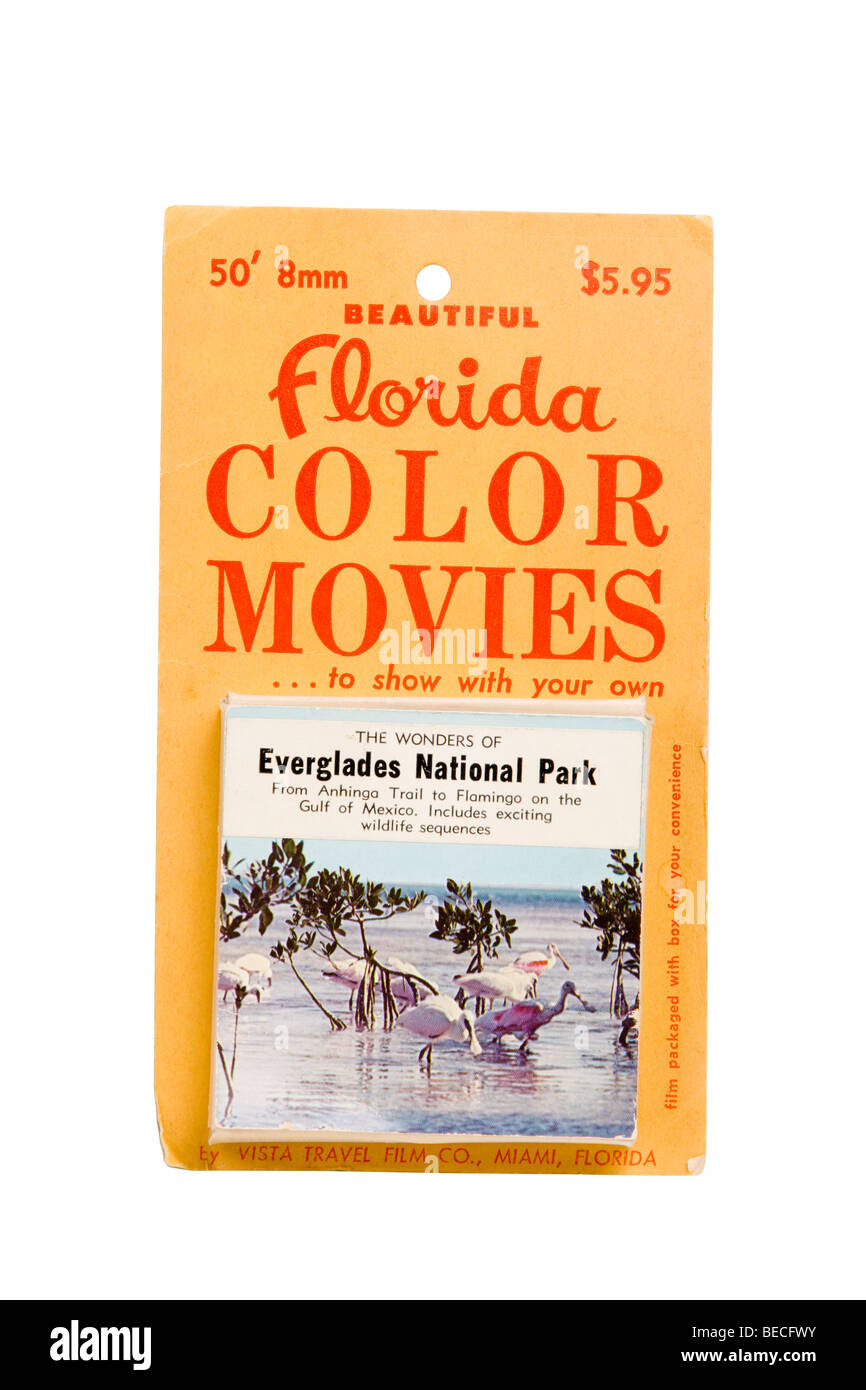 souvenir 1960s U.S. Florida State Everglades National Park 8mm movie - Stock Image