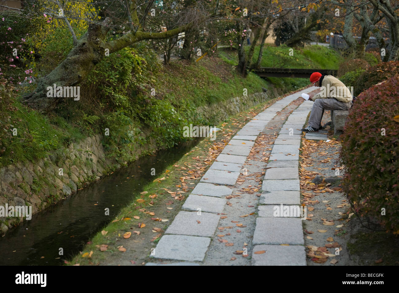 The Path of Philosophy, or Tetsugakunomichi as it is known in Japanese - Stock Image