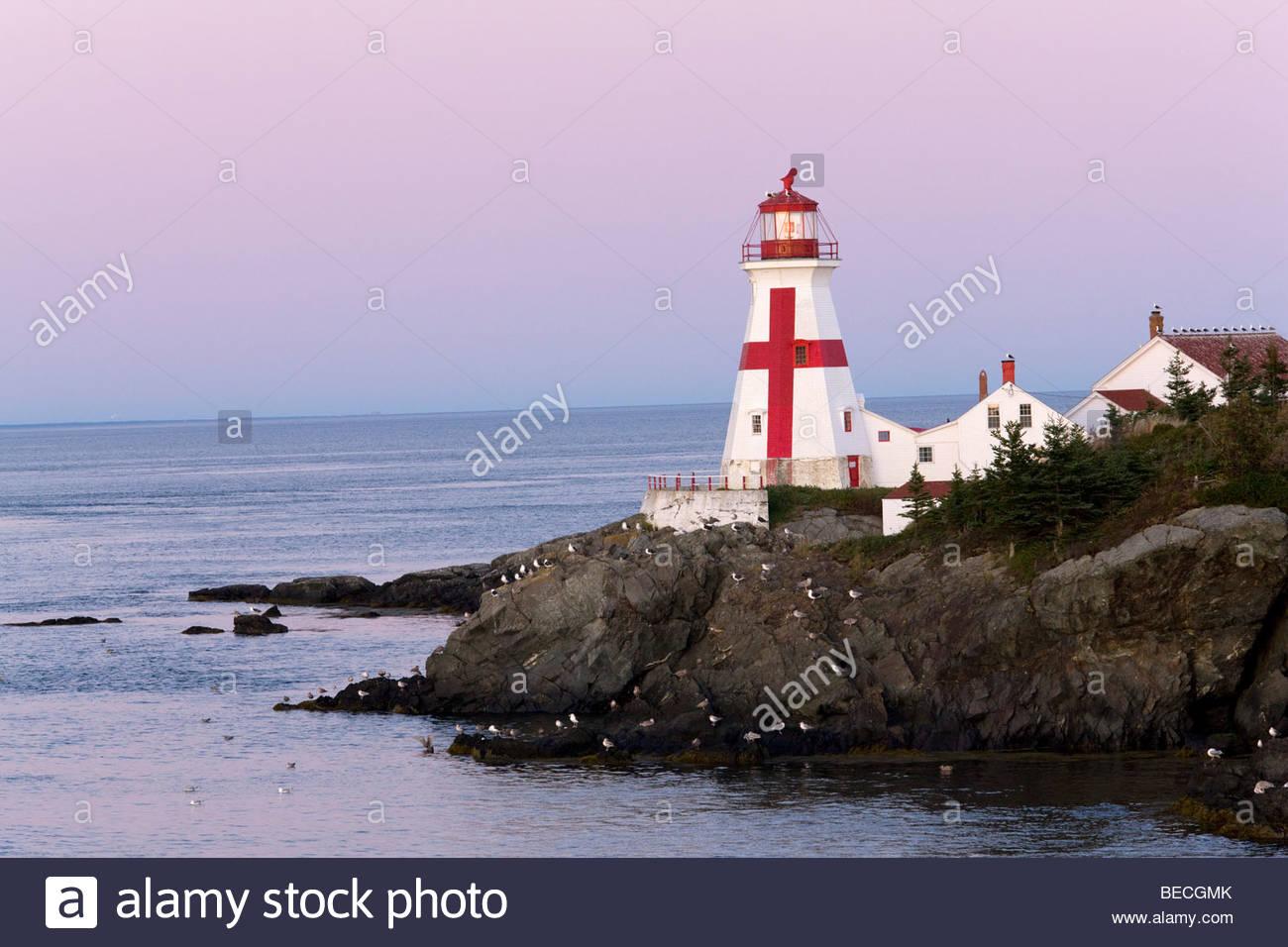 East Quoddy Lighthouse Campobello Island by Scott Leslie