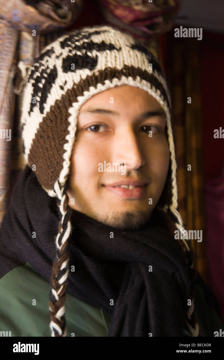 The population of Nepal is a mosaic of diverse ethnic groups lncluding Sherpa - Stock Image