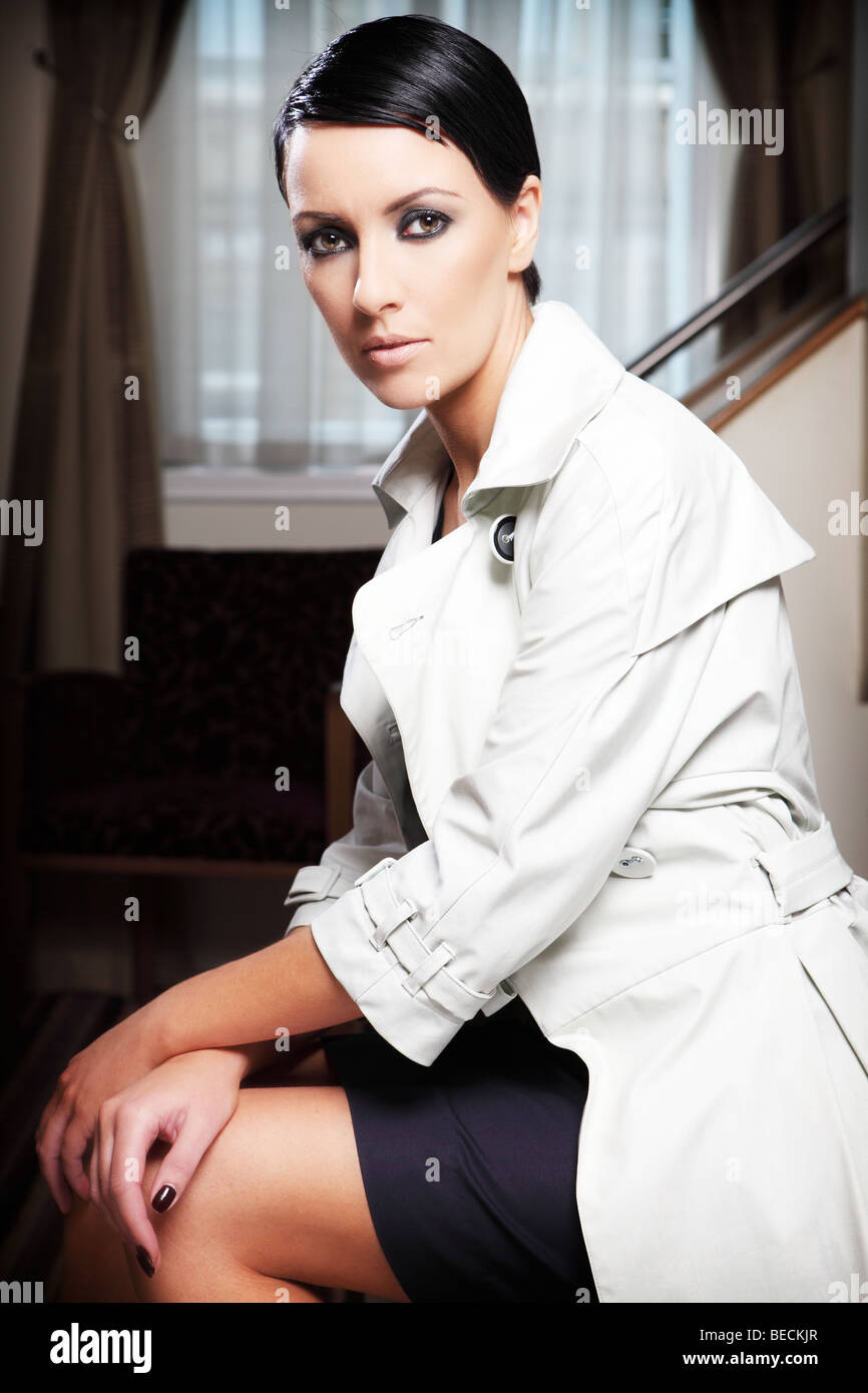 beauty portrait of a female model - Stock Image