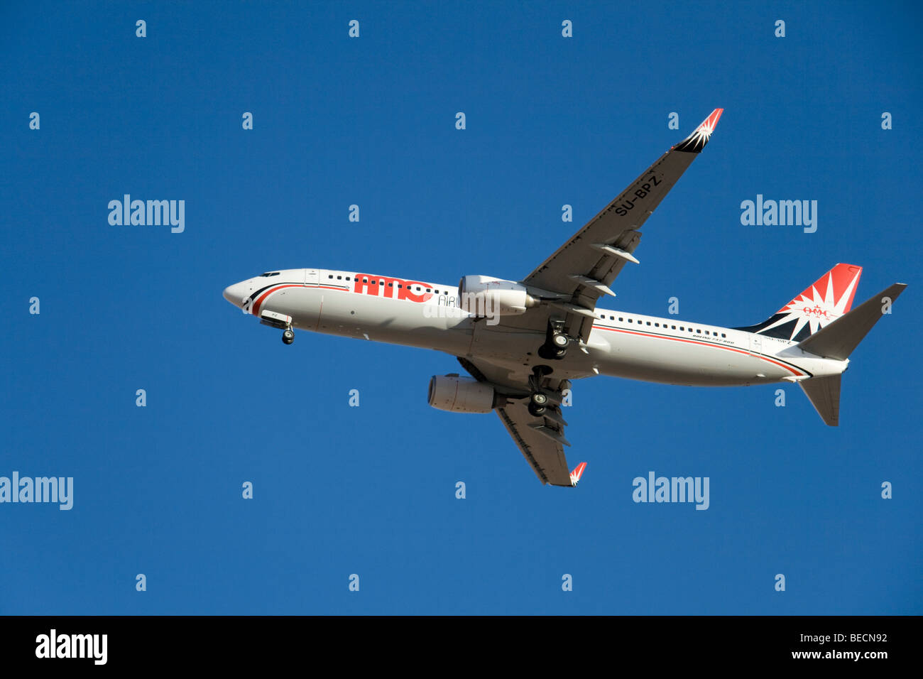 AMC Airlines Boeing 737-86N - Stock Image