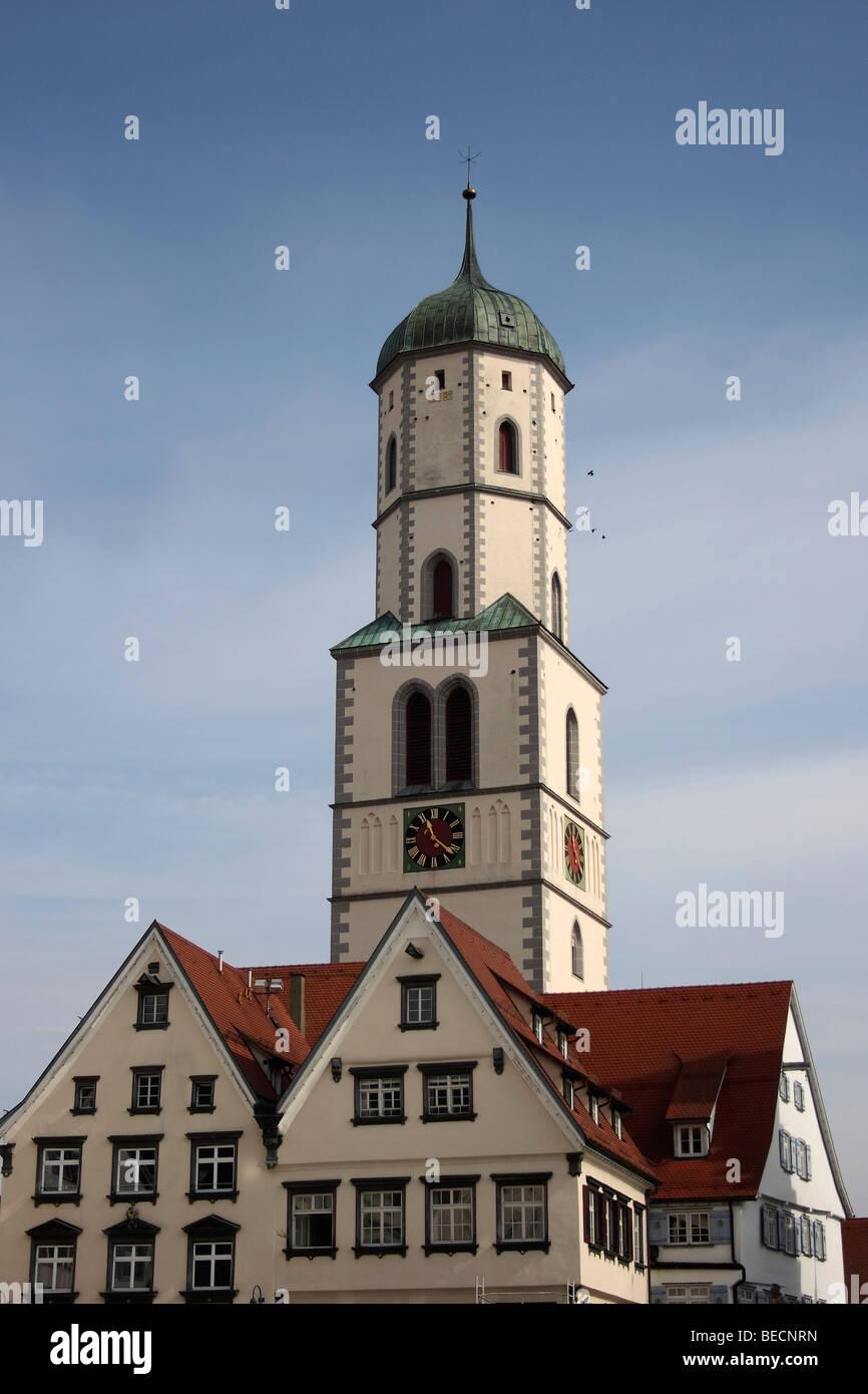 St. Martins church, Biberach an der Riss, Upper Swabia, Baden-Wuerttemberg, Germany, Europe - Stock Image