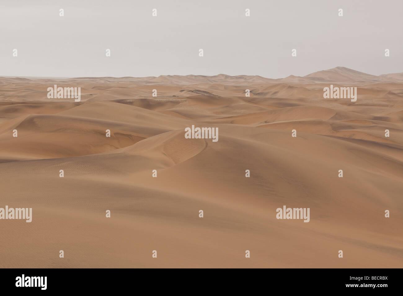Sand dunes near Swakopmund, Namib Desert, Namibia, Africa - Stock Image