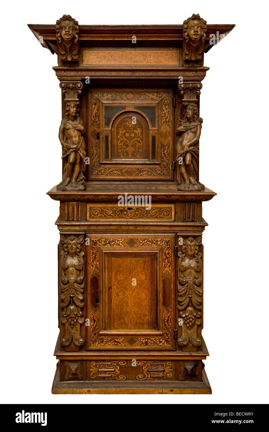 Old wall cupboard - Stock Image