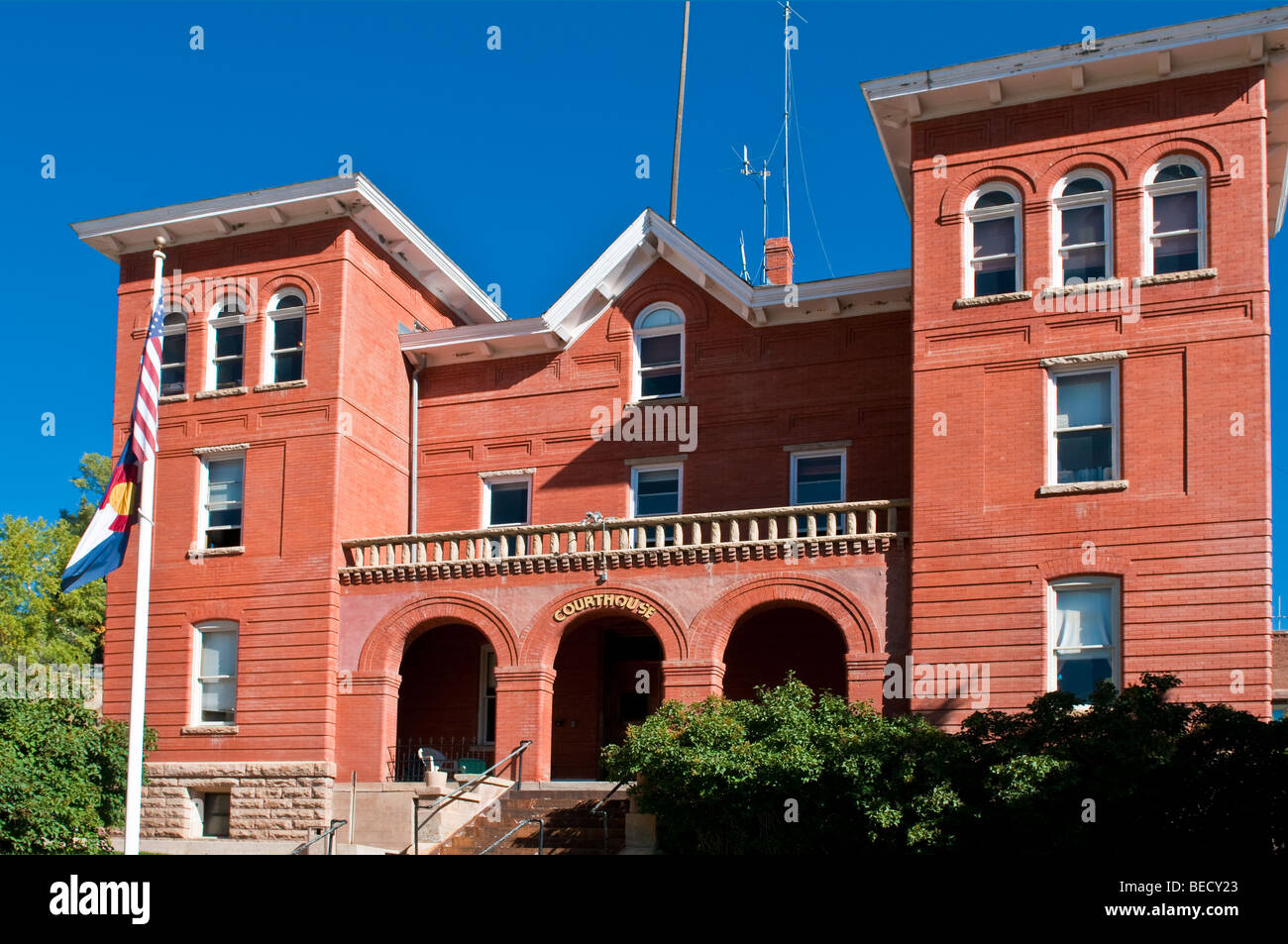 Gilpin County Colorado Courthouse in Central City Colorado - Stock Image