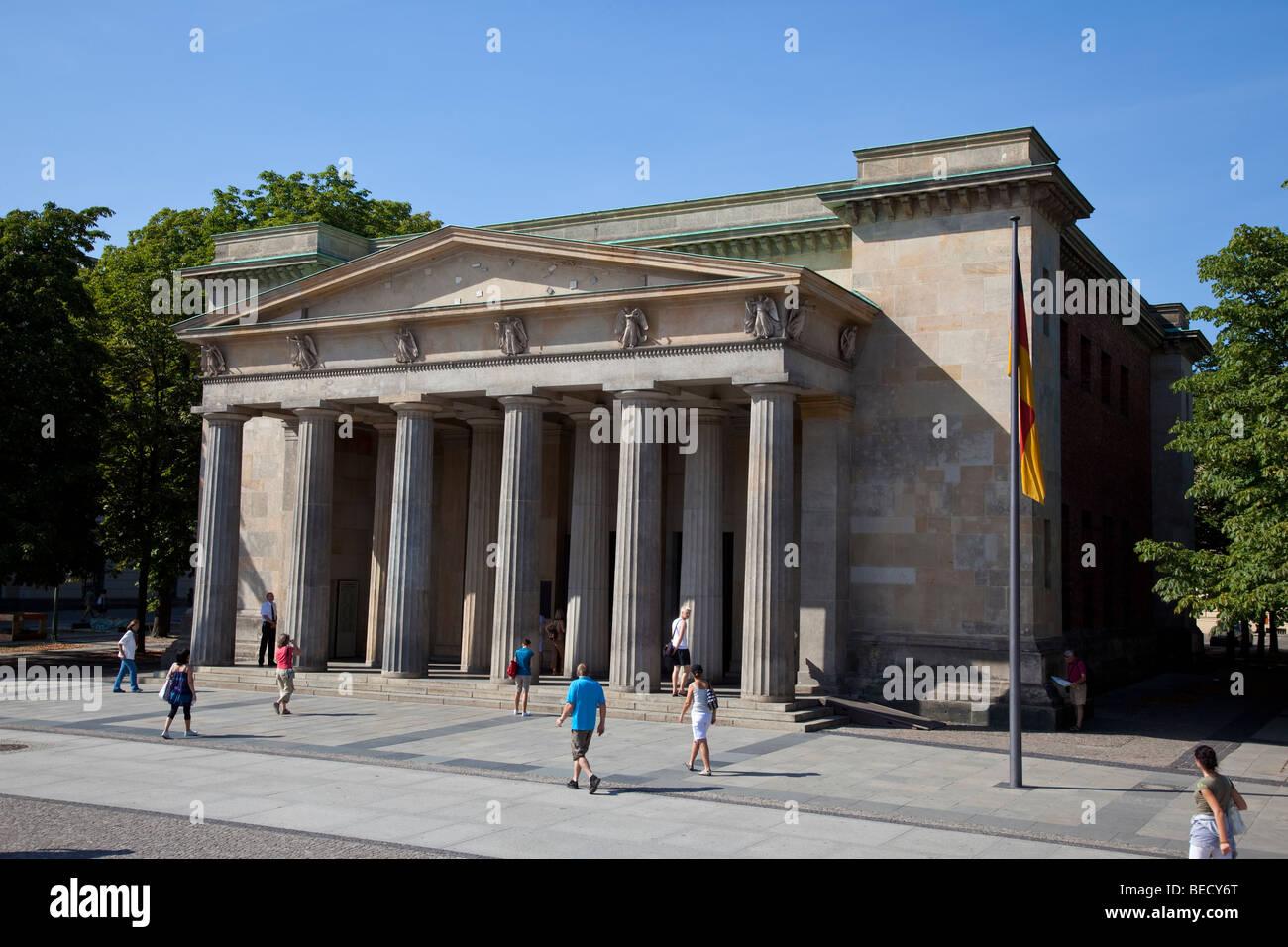 Berlin, Neue Wache, New Guard, Memorial for victims of war & tyranny on Unter den Linden - Stock Image