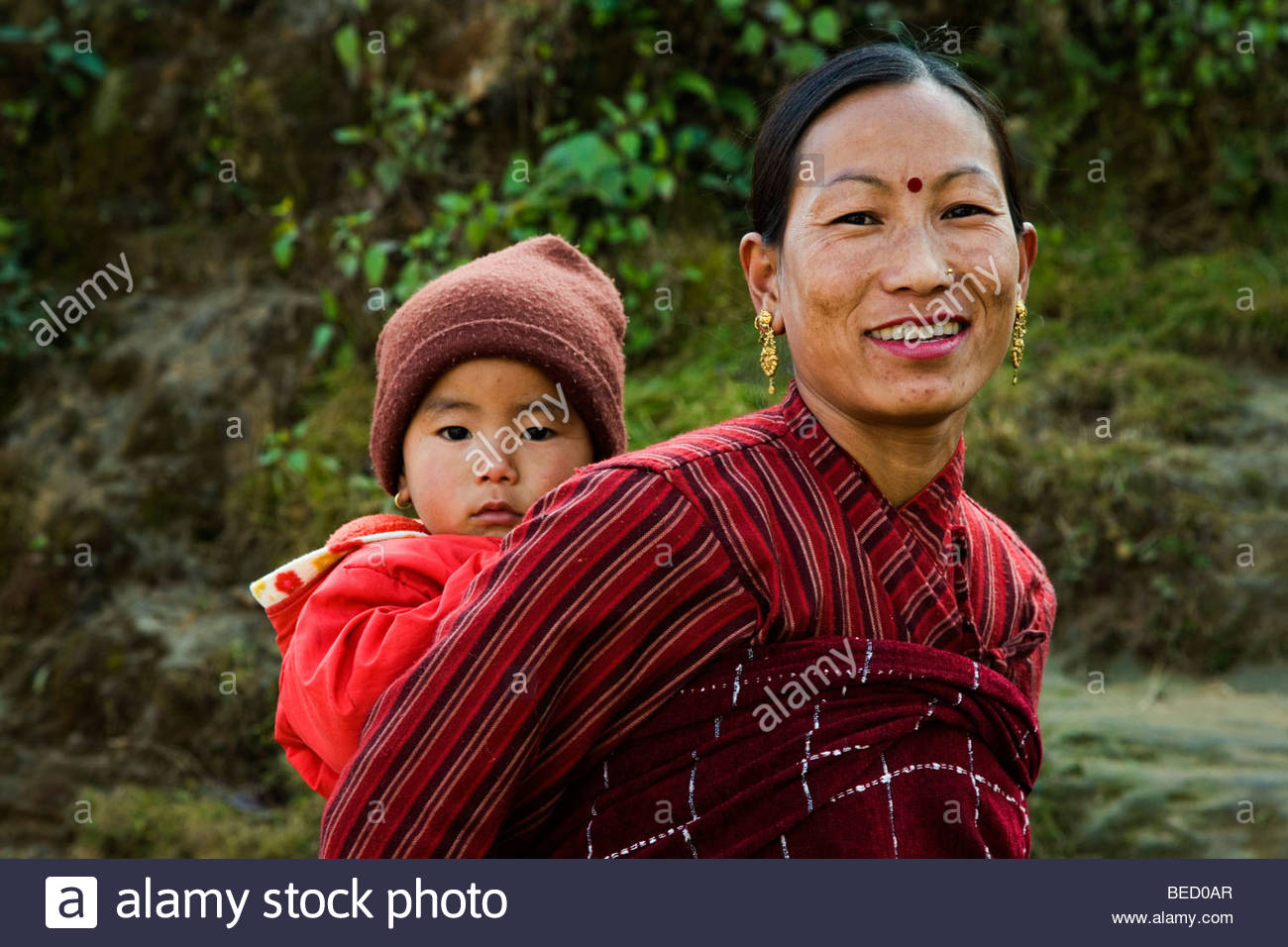 Nepalese Woman and Child - Stock Image