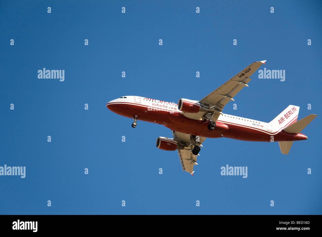 Air Berlin (Belair) Airbus A320-214 - Stock Image