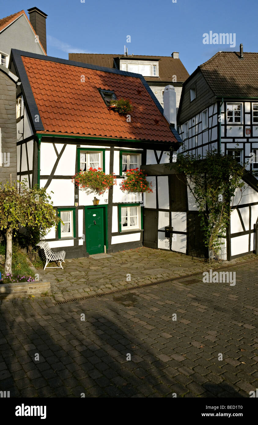 The 'Mini Hotel' in Herdecke near Dortmund, Germany's smallest Hotel. - Stock Image